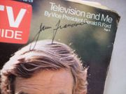 Franciscus, James TV Guide Signed Autograph March 23 1974
