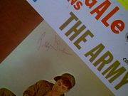 Gale, Bobby LP Signed Autograph Joins The Navy The Army