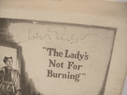 Gielgud, John Playbill Signed Autograph The Ladys Not For Burning 1950