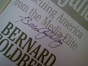 Goldberg, Bernard  Arrogance Rescuing America From The Media Elite  2003 Book Signed Autograph