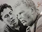 Hayden, Sterling Photo Terror In A Texas Town 1958 Photo Signed Autograph Movie Scene