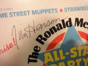 Henson, Jim The Ronald McDonald All-Star Party 1982 Signed Autograph Muppets