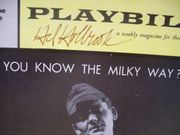 Holbrook, Hal Playbill Signed Autograph Do You Know The Milky Way 1961