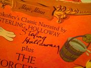 Holloway, Sterling LP Signed Autograph Peter And The Wolf Walt Disney 1964