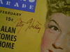 "Hutton, Betty  ""Movie Stars Parade"" 1944 Magazine Signed Autograph Cover Color Photo"