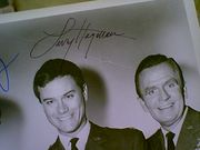 I Dream Of Jeannie 1978 Photo Larry Hagman Bill Daily Signed Autograph