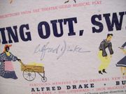 Ives, Burl Alfred Drake LP Signed Autograph Sing Out Sweet Land!