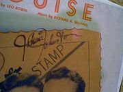 Johnston, Johnnie Sheet Music Signed Autograph Louise 1929