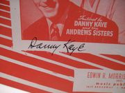 Kaye, Danny Sheet Music Signed Autograph Civilization 1947
