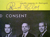"""Kiley, Richard  and Ed Begley 1961 Playbill """"Advise And Consent"""" Signed Autograph Cover Photo"""