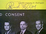 Kiley, Richard  and Ed Begley 1961 Playbill Advise And Consent Signed Autograph Cover Photo