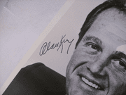 King, Alan Photo Signed Autograph Black And White