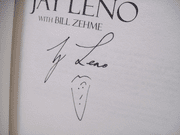 Leno, Jay Book Signed Autograph Leading With My Chin 1996