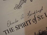 Lindbergh, Charles The Spirit Of St. Louis 1956 Book Signed Autograph