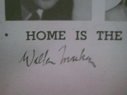 Macken, Walter  and Peggy Ann Garner 1954 Playbill Home Is The Hero Signed Autograph Cover Photo