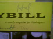 March, Hal  1962 Playbill Come Blow Your Horn Signed Autograph