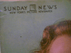 Marly, Florence  Color Photo 1949 New York Sunday News Signed Autograph
