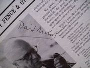 Mccord, David LP Signed Autograph The Pickety Fence And Other Poems 1966
