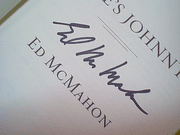 Mcmahon, Ed  HereS Johnny! 2005 Book Signed Autograph Photos