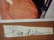 McQueen, Steve Photo Signed Autograph Early Color