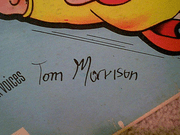 Mighty Mouse LP Signed Autograph The Adventures Of Tom Morrison 1964 Terrytoons
