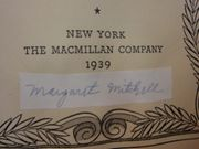 Mitchell, Margaret Gone With The Wind Motion Picture Edition Book 1939 Signed Autograph Color Photos