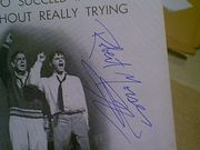 Morse, Robert  and Rudy Vallee How To Succeed In Business Without Really Trying 1962 Playbill Signed Autograph Cover Photo