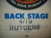 Murphy, Eddie  1985 Back Stage Pass Signed Autograph Lawd Have Murphy Color Photo Rutgers