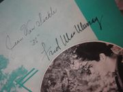 MacMurray, Fred and Sylvia Sidney A Melody From The Sky 1936 Sheet Music Signed Autograph The Trail Of The Lonesome Pine