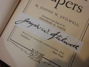 Joseph Stilwell General The Stilwell Papers Book Signed Autograph WW II Photos