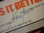 Moore, Roger and Barbara Bach Nobody Does It Better 1977 Sheet Music Signed Autograph The Spy Who Loved Me James Bond 007