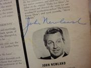 Newland, John  One Step Beyond 1960 LP Signed Autograph Cover Only