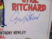 Newley, Anthony Cyril Ritchard LP Signed Autograph The Roar Of The Greasepaint The Smell Of The Crowd Original Cast 1965