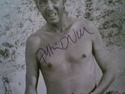 ONeal, Patrick  and Henry Silva 1967 Movie Scene Set of 2 Photos Matchless Signed Autograph