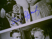 Peppard, George  & Robert Bob Cummings 1964 Photo Signed Autograph The Carpetbaggers