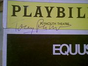 Perkins, Anthony Tony  Equus Playbill 1976 Signed Autograph
