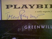 Perkins, Tony Anthony  Greenwillow 1960 Playbill Signed Autograph Cover Photo