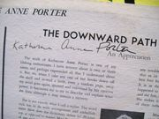 Porter, Katherine Anne LP Signed Autograph The Downward Path To Wisdom