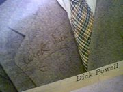 Powell, Dick  Color Photo 1948 Signed Autograph New York Sunday News Magazine