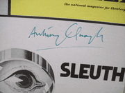 Quayle, Anthony Playbill Signed Autograph Sleuth 1971