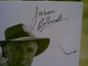 Robards, Jason  & Linda Evans 1986 Photo The Last Frontier Signed Autograph Byline