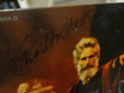 Heston, Charlton and Yul Brynner The Ten Commandments 1956 Soundtrack LP Signed Autograph Color Photos