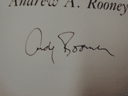 Rooney, Andy Pieces Of My Mind 1984 Book Signed Autograph First Edition