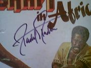Roundtree, Richard  Shaft In Africa 1973 LP Signed Autograph Photos Theme