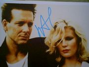 Rourke, Mickey  and Kim Basinger Color Photo 9 1/2 Weeks Signed Autograph Movie Scene