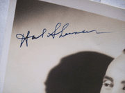 Sherman, Hal Photo Signed Autograph Black And White