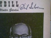 Silvers, Phil  Danny Scholl Bill Callahan Top Banana 1952 Playbill Signed Autograph Photo