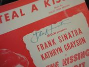 Sinatra, Frank and Kathryn Grayson If I Steal A Kiss 1948 Sheet Music Signed Autograph The Kissing Bandit Photograph