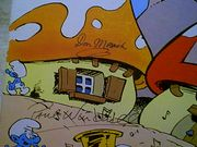 Smurfs LP Winters, Jonathan Don Messick Paul Winchell Signed Autograph The  Smurfing Sing Song 1980