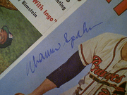 Spahn, Warren  Sport Magazine 1961 Signed Autograph Color Cover Photo Baseball